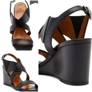 Aquatalia Slingback Wedge Sandals